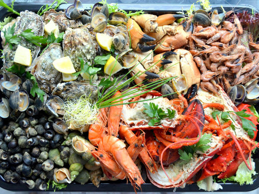 Nino Seafoodschotel kreeft (€ 48/ per persoon)