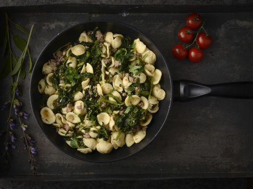 Orecchiette con Salsiccia e Friarelli